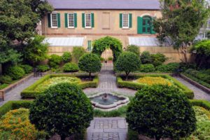 This is the parterre garden located behind the Owens-Thomas House.
