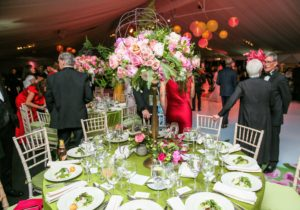 The tables were dressed in beautiful spring colors and seasonal flowers. (Photo by Angela Pham/BFA)