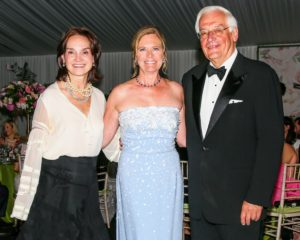 Here is a photograph of NYBG President, Carrie Rebora Barratt, Maureen, and current NYBG Chairman of the Board, J. Barclay Collins II. (Photo by Angela Pham/BFA)