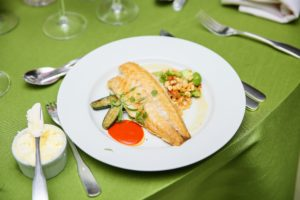 Dinner included flavorful fish and salad. (Photo by Angela Pham/BFA)