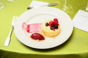 And a tasty, light berry dessert. (Photo by Angela Pham/BFA)