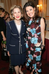 Here's a photo of Sandra Warshawsky, Director of New York Philharmonic, and Deputy Chairman at Christie's Auction House, AFA trustee and longtime AFA supporter, Capera Ryan. (Photo by Sylvain Gaboury/PMC/PMC)