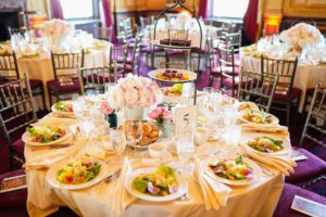 The tables were decorated with beautiful spring colors and crisp, white linens. (Photo by Gonzalo Marroquin/PMC)