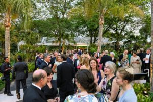 "The black-tie event began with an hour of cocktails outside where guests were invited to see the exhibition ""Brazilian Modern: The Living Art of Roberto Burle Marx."" (Photo courtesy of Battalion PR)"