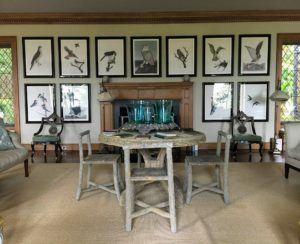 My living room is decorated with lithographs by artist and collector, Carroll Sargent Tyson. The collection includes the native birds of Mount Desert Island.
