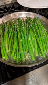 Saturday night's dinner included fresh asparagus grown in my Bedford, New York garden.