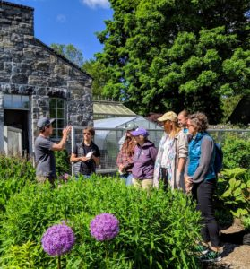 My head gardener, Ryan McCallister, welcomed our 15-guests and guided them through the main greenhouse and head house before entering the flower cutting garden.