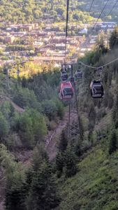 The next day, we took an early morning gondola ride to the top of Aspen Mountain, or Ajax, to see more of the breathtaking views. The gondola is one of two lifts, which ascend from Gondola Plaza in the heart of downtown Aspen.