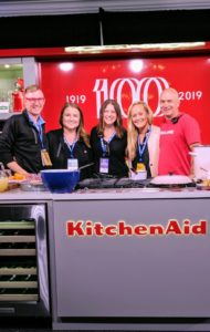 In this photo - David Anzini and Kris Klank from Kitchen Aid, Diella Allen, event marketing director for Food & Wine, senior PR manager for Meredith Corporation, Liz Malone, and Food & Wine event producer, Devin Padgett.