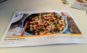The kit comes with a large recipe card complete with a photo of the finished dish on one side.