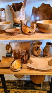 A number of local artists produce wooden items. This collection was created by Peter Kinsella, who loves working with many types of wood including cedar, black cherry, yellow and white birch, maple and spruce.