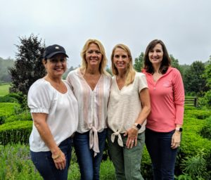 Here's a photo of charity auction winners Jenni, Traci, Lisa, and Marilee.