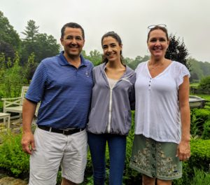 And here are Michael, Debbie and their daughter, Hannah. Michael and Debbie actually lived in one of the houses on the property before I purchased it - it's changed quite a bit since they were last here. They are the owners of Sgaglio's Marketplace, a specialty foods and butcher shop - one of my favorite stops in Katonah. http://sgagliosmarketplace.com/