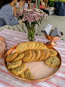 The group was offered a light snack of cookies and punch – all the cookies were very popular and went quickly.