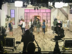 Whenever I am at QVC, we work from a big set with multiple cameras, so that items can be seen from a variety of angles.
