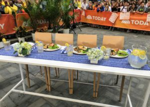 Here is where Savannah Guthrie, Carson Daly, Al Roker, and Jenna Bush Hager sit - our Today Show taste testers.