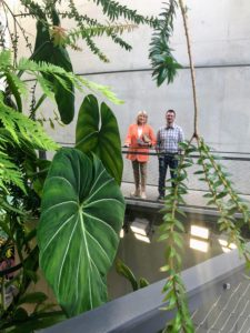 Here I am with Justin Schroeder - Amazon Spheres program manager and member of the horticulture team. Justin gave us a wonderful tour through the domes.