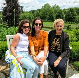 Close to the end of each tour, I always plan a small break for guests to enjoy refreshments and the sweeping views of the farm from my terrace parterre. Here are some members from the Elizabeth Park Conservancy. The weather on this day was just perfect - 70s and sunny.