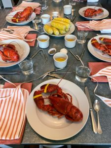 Monday's lunch - the last meal before heading back to New York - we all enjoyed lobsters, also from Parsons Lobster and Seafood Shop.
