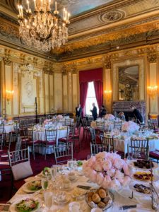 Lunch was served in the Presidents Ballroom - a majestic space with tree-lined views of Central Park, Renaissance style ceiling murals and two Baccarat crystal chandeliers.