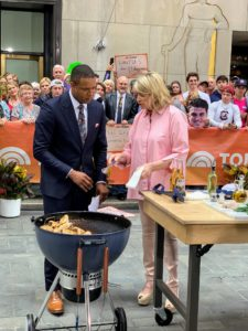 My segment is done with news anchor Craig Melvin. Craig loves to cook on the grill, especially for his young children, because it is so easy to do. When grilling chicken, be sure it cooks to 165-degrees Fahrenheit.