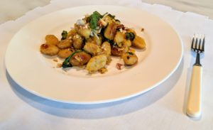 And it's ready to serve for lunch or dinner. Pan-Roasted Gnocchi with Yellow Squash, Almonds & Basil is an easy, flavorful meal that you and your family will love. Order your Martha & Marley Spoon meal kits right now! Just click on the highlighted links above and enjoy our menu offerings! We're adding more and more all the time! Enjoy the weekend!