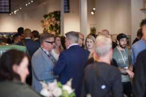 The gallery holds about 100-guests - it was completely filled. (Photo by Nienke M. Izurieta)