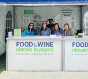 Here's the Food & Wine team that works on the event all year long - Diella, Hannah Soltyz, Luis Zepeda, and Allie Perry.