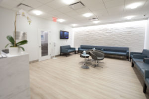 The Martha Stewart Center for Living is completely designed to have large spaces, so patients and their caretakers are comfortable waiting for appointments and services. (Photo courtesy of Mount Sinai Hospital)