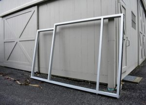 The metal framing was built at the GlasSolutions offsite facility and then transported to my farm for installation.