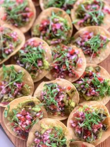 All the tostadas and tacos were served on large wooden boards for everyone to pick - they all went so quickly.