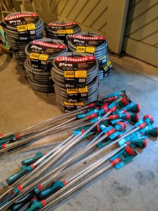 Gilmour has a very durable collection of gardening supplies – these are always put to great use in the gardens and wherever thorough watering is needed. http://gilmour.com/where-to-buy