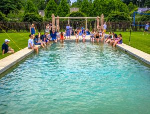 Everyone loved dipping their feet in the pool - such a refreshing break after a long and hot, humid day.