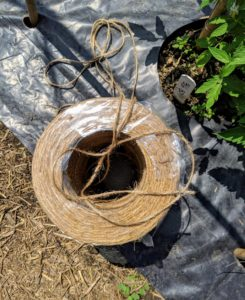 We use jute gardening twine for so many projects around the farm. This twine is strong, doesn't slip easily, and is made from an all natural fiber.