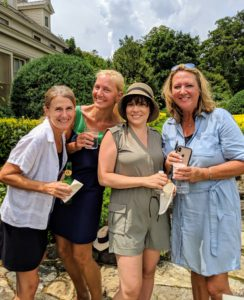 Greta Anthony, Susanne Ruppert, Kim Dumer and Kim Miller-Olko stopped for a quick snapshot on my terrace parterre.