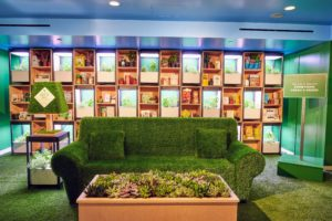 "Another area features a living room complete with a ""grass"" covered couch. (Photo courtesy of STORY)"