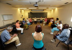 This is one of the many wellness classes. The Center's activities include Tai Chi, yoga, Pilates, mindfulness-based stress reduction and exercises for balance and building strong bones.
