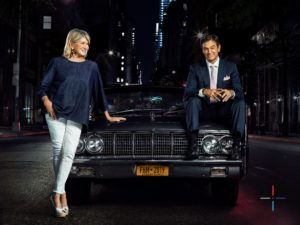 Here I am with Dr. Mehmet Oz - ready to appear at the inaugural PHM HealthFront event. We're arriving in this 1964 Lincoln Continental. You may have seen it on my Instagram page @MarthaStewart48. (Photo by Nick Laham, PHM)