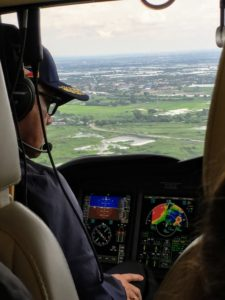 The captain welcomed us aboard the aircraft and flew us over the countryside - the ride was extremely smooth.