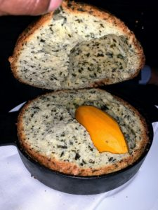 I also enjoyed this sweet potato baked in seaweed bread, mustard butter, and black truffles.