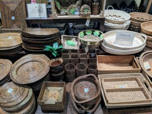 Among the stores we visited was Kultura - a retailer of uniquely Filipino home accents, fashion statement pieces, souvenirs, and delicacies. There were many weaved baskets, boxes, and other storage pieces. I love shopping for inspiration and ideas - I was particularly interested in those items made out of rattan.