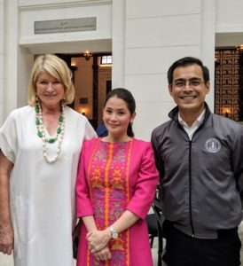 Here I am with Manila mayor, Isko Moreno, and Department of Tourism Secretary, Bernadette Romulo-Puyat, who hosted our visit to Intramuros. It was a busy first day in the Philippines, and so much fun. Tomorrow - more photos from my event sponsored by ANC.