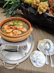 And this is taro leaves cooked in coconut milk with shrimp.