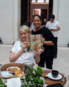 "Chef Margarita ""Gaita"" Fores helped plan this delicious luncheon. She is a seasoned restaurateur and was named Asia's Best Female Chef of 2016. She brought her copy of my first book, ""Entertaining"" for me to sign."