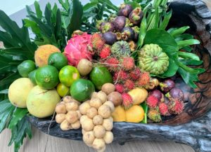 And some of the country's most delicious fruits, such as mangosteen, rambutan, lanzones, and atis.