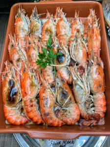 These are river prawns cooked with crab fat.