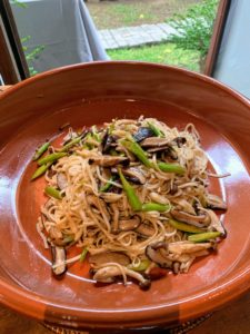 We also had pancit, or Filipino noodles, traditionally cooked with soy sauce along with some variation of meats and chopped vegetables.