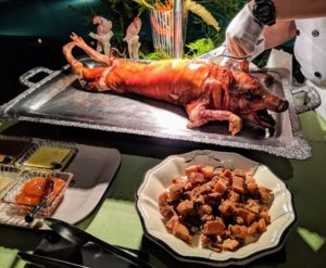 There was also a lechon station. Lechón is a Spanish word referring to a roasted suckling pig - a very popular dish served in the Philippines.