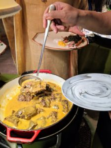 There was a traditional Kare-kare station. Kare-kare is a Philippine stew complimented with a thick savory peanut sauce. It is made from a base of stewed oxtail, pork, beef stew meat, or occasionally offal or tripe. This one was prepared using Wagyu beef oxtail. It was very tender.
