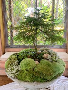 During summer, we also fill several garden planters with moss and other natural elements. Once the season is over, we always make sure the moss we harvested is returned to the forest where it can regenerate and flourish.